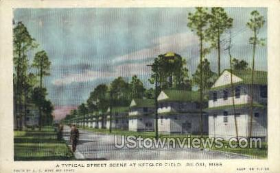 A Typical Street Scene at keesler Field  - Biloxi, Mississippi MS Postcard