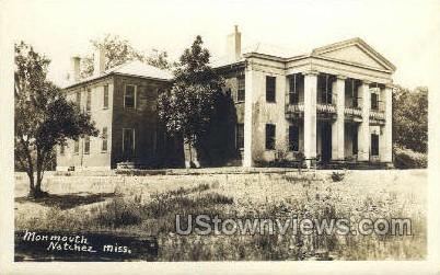 Mon Mouth - Real Photo - Natchez, Mississippi MS Postcard