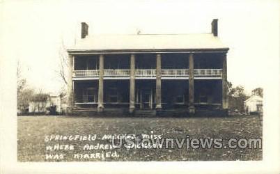 Andrew Jackson Was Married  - Natchez, Mississippi MS Postcard