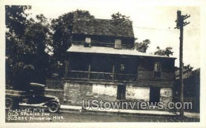 Old Spanish Inn - Real Photo - Natchez, Mississippi MS Postcard