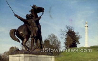 General Tilghman Statue  - Vicksburg, Mississippi MS Postcard
