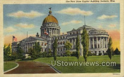 The New State Capitol Building - Jackson, Mississippi MS Postcard