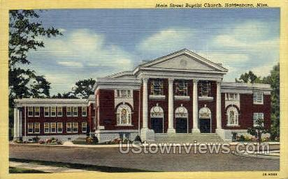 Main Street Baptist Church - Hattiesburg, Mississippi MS Postcard
