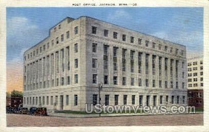 Post Office  - Jackson, Mississippi MS Postcard