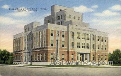 Lauderdale County Court house and Hotel  - Meridian, Mississippi MS Postcard
