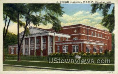 Whitfield Auditorium MSCW - Columbus, Mississippi MS Postcard