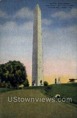 Naval Monument National Military Park - Vicksburg, Mississippi MS Postcard
