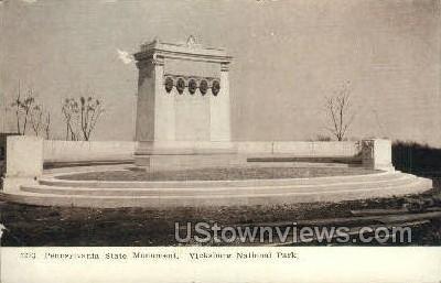 Pennsylvania State Monument - Vicksburg, Mississippi MS Postcard