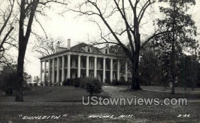 Dunleith - Real Photo - Natchez, Mississippi MS Postcard