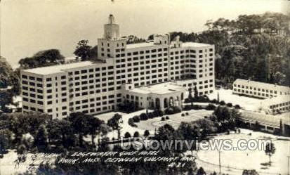 Aerial View Edgewater Gulf Hotel - Real Photo - Edgewater Park, Mississippi MS Postcard
