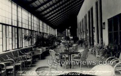 The Sun Porch Edgewater Gulf Hotel - Real Photo - Edgewater Park, Mississippi MS Postcard