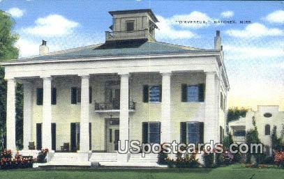 D'Evereux - Natchez, Mississippi MS Postcard