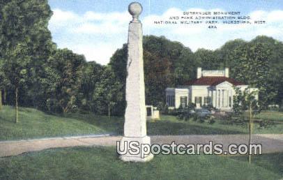 Park Administration Building - Vicksburg, Mississippi MS Postcard