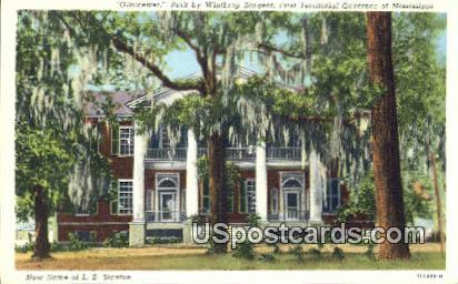 Home of Winthrop Sergeant - Misc, Mississippi MS Postcard