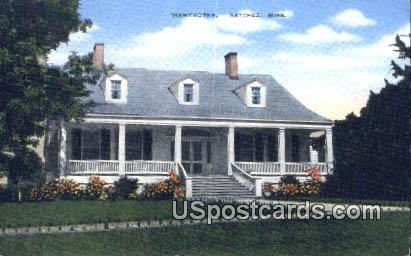 Hawthorne - Natchez, Mississippi MS Postcard