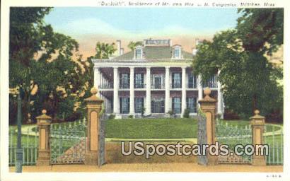 Residence of Mr & Mrs LN Carpenter - Natchez, Mississippi MS Postcard