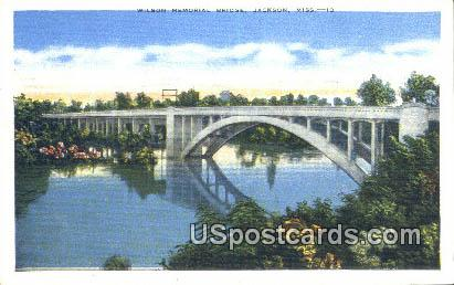 Wilson Memorial Bridge - Jackson, Mississippi MS Postcard
