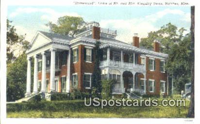 Home of Mr & Mrs Kingsley Swan - Natchez, Mississippi MS Postcard
