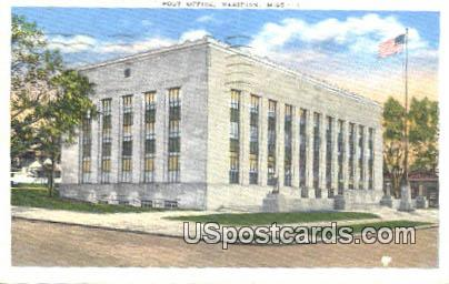 Post Office - Meridian, Mississippi MS Postcard