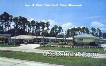 Sun-N-Sand Hotel Court - Biloxi, Mississippi MS Postcard