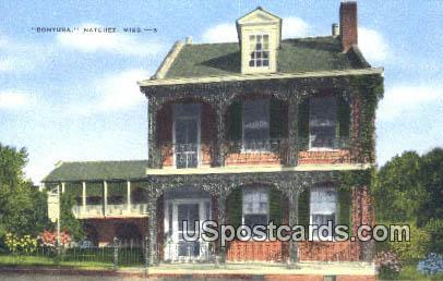 Bontura - Natchez, Mississippi MS Postcard