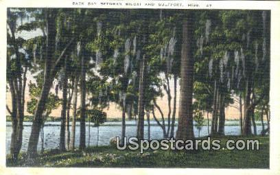 Back Bay, Biloxi - Gulfport, Mississippi MS Postcard