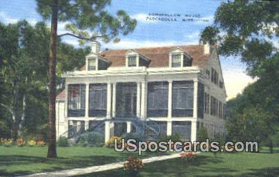 Longfellow House - Pascagoula, Mississippi MS Postcard
