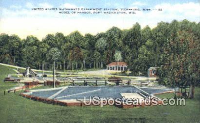 United States Waterways Experiment Station - Vicksburg, Mississippi MS Postcard