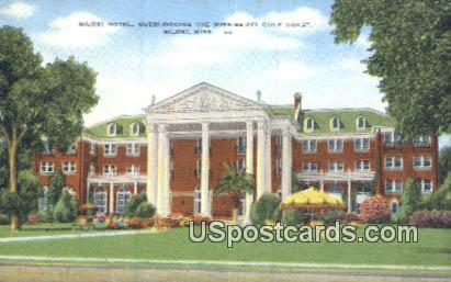 Biloxi Hotel - Mississippi MS Postcard