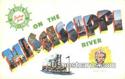 Mississippi River MS, Postcard       ;       Mississippi River Mississippi, - Mississippi River Postcards