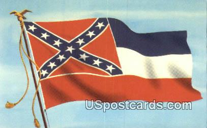 State Flag - Misc, Mississippi MS Postcard