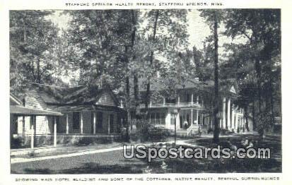 Stafford Springs Health Resort - Mississippi MS Postcard