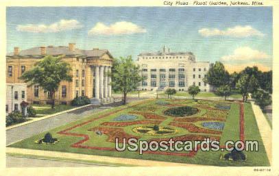 City Plaza, Floral Garden - Jackson, Mississippi MS Postcard
