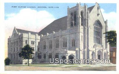 First Baptist Church - Jackson, Mississippi MS Postcard