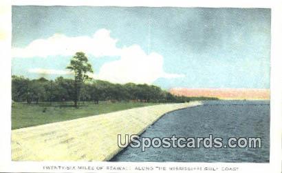 Sea Wall - Mississippi Gulf Coast Postcards, Mississippi MS Postcard