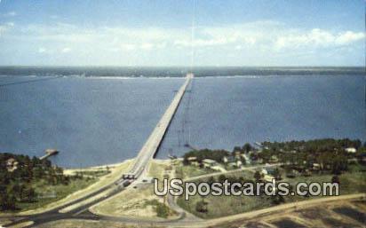 Bay Bridge - Mississippi Gulf Coast Postcards, Mississippi MS Postcard