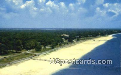 Highway & Beach - Biloxi, Mississippi MS Postcard