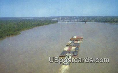 Towboat - Ol' Man River, Mississippi MS Postcard