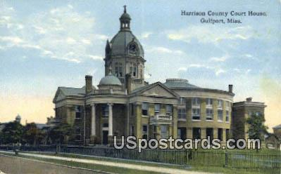 Harrison County Court House - Gulfport, Mississippi MS Postcard