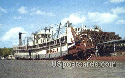 Showboat Sprague - Vicksburg, Mississippi MS Postcard