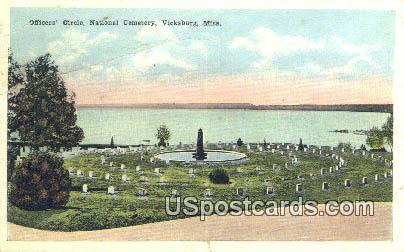 Officers' Circle, National Military Cemetery - Vicksburg, Mississippi MS Postcard
