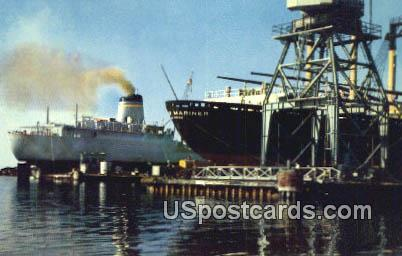 Ships in for Repair - Pascagoula, Mississippi MS Postcard