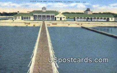 Yacht Club & Civic Center - Gulfport, Mississippi MS Postcard
