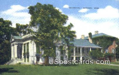Richmond - Natchez, Mississippi MS Postcard