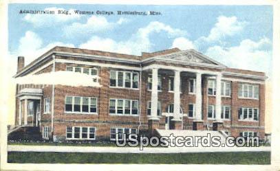 Administration Building, Women's College - Hattiesburg, Mississippi MS Postcard