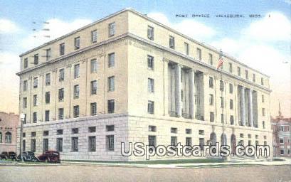 Post Office - Vicksburg, Mississippi MS Postcard