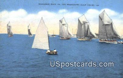 Schooner Race - Mississippi Gulf Coast Postcards, Mississippi MS Postcard