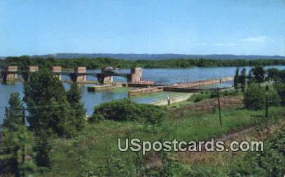 US Government Dam & Locks - Misc, Mississippi MS Postcard