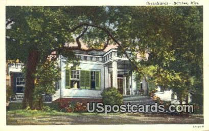 Greenleaves - Natchez, Mississippi MS Postcard