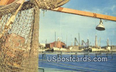 Gulf Coast Fishing Boats - Misc, Mississippi MS Postcard